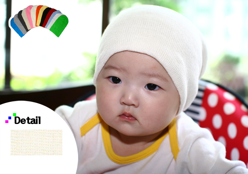 baby cotton ivory beanie