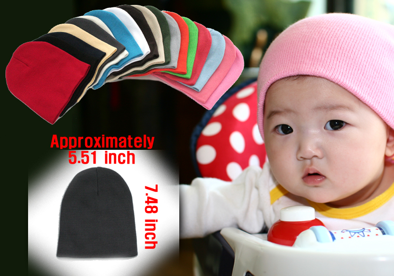 short baby cotton beanie