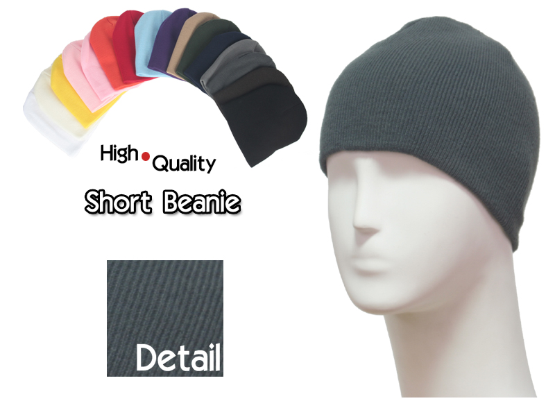 basic short dark grey beanie