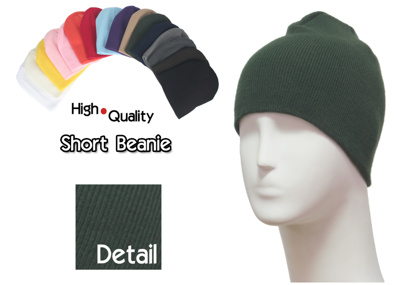 basic shot green beanie