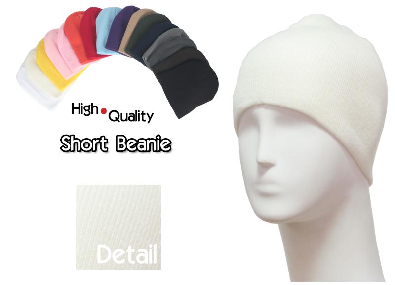 basic short ivory beanie
