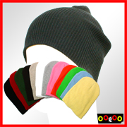 Striped cotton beanie